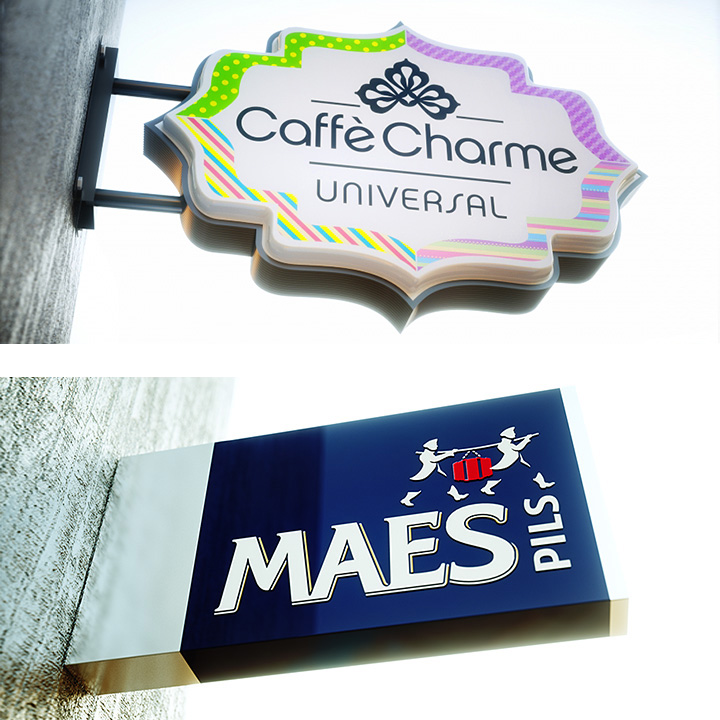 Key Company | EXTERIOR | Light Boxes | Caffe Charme and Maes Pils