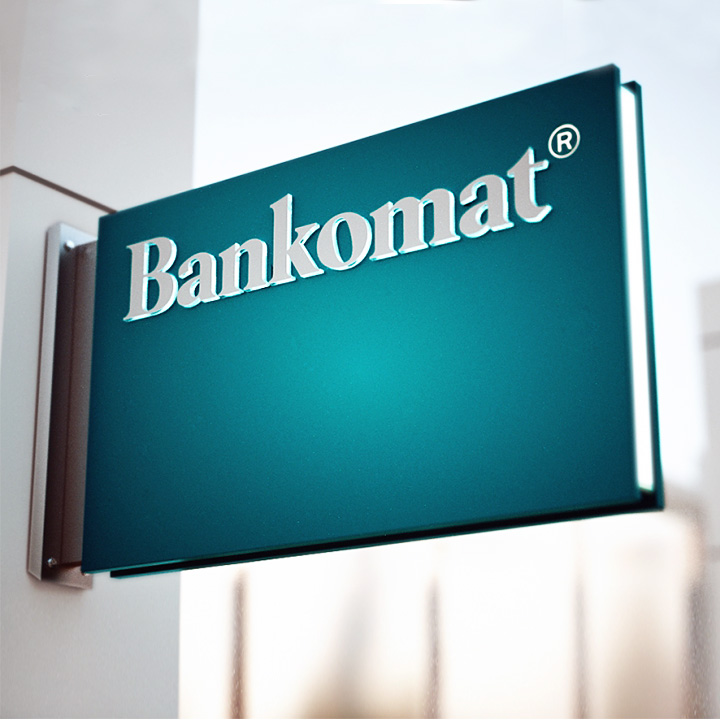 Key Company | EXTERIOR | Metal faced signs | Bankomat