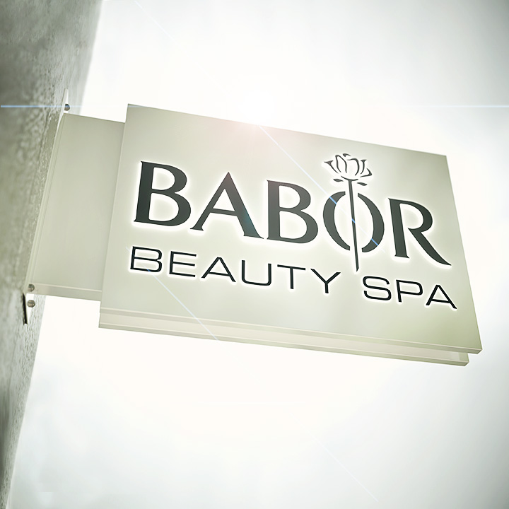 Key Company | EXTERIOR | Metal faced signs | Babor beauty SPA
