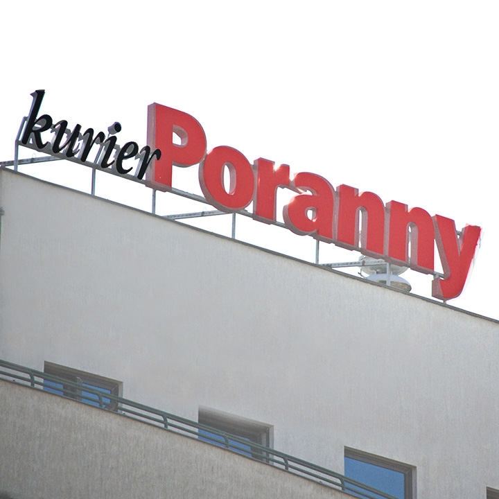 Key Company | LARGE SCALE | Channel letters | Kurier poranny